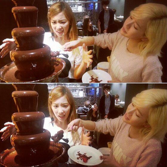 Taeyeon Sunny chocolate fondue Instagram
