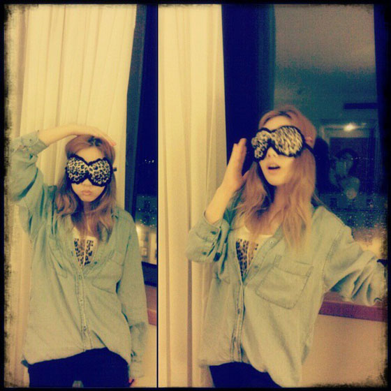 SNSD Taeyeon naughty instagram selca