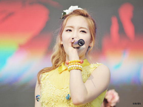 SNSD Taeyeon Kyungbock High School Festival 2013