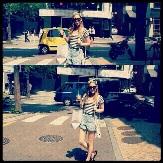SNSD Taeyeon Seoul street selca