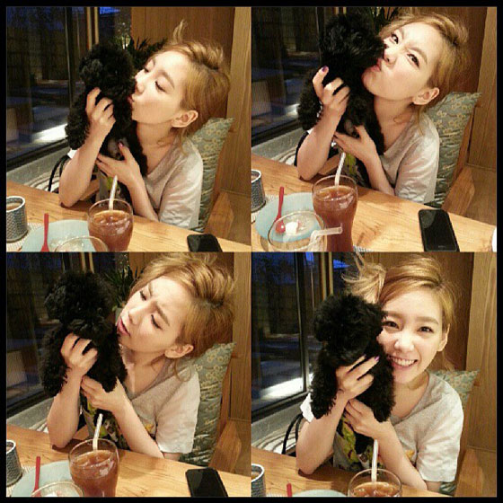 Girls Generation Taeyeon Ginger selca