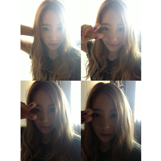 SNSD Taeyeon Instagram selca photo