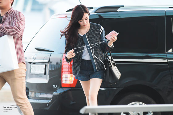 SNSD Tiffany Incheon Airport LA Dodgers