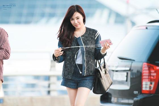 SNSD Tiffany Incheon Airport LA Dodgers
