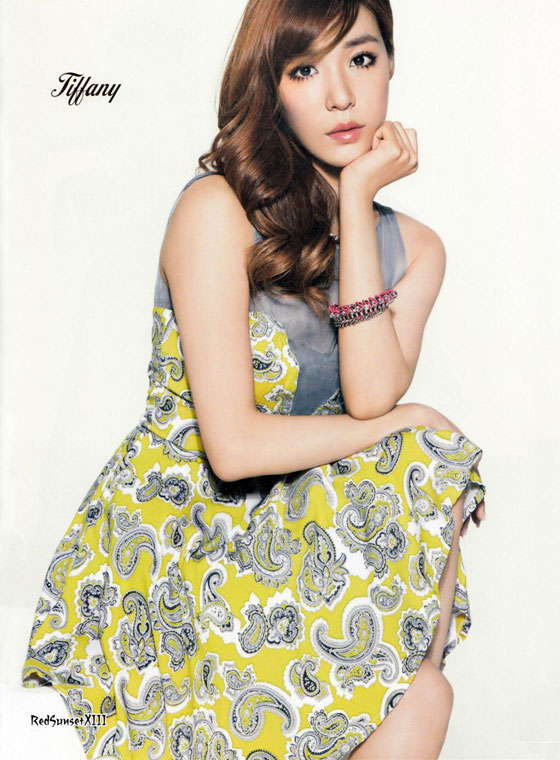SNSD Tiffany Sone Note Japanese magazine
