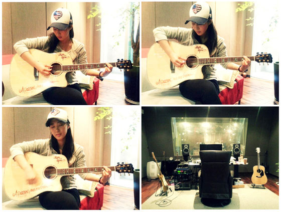 Yuri selca & guitar practice