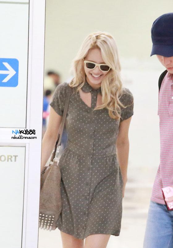 SNSD Hyoyeon Gimpo Airport fashion