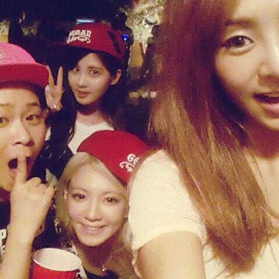 Hyoyeon Seohyun Min birthday selca
