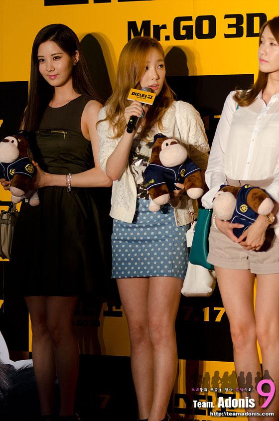 Taeyeon Seohyun Yoona Mr Go movie premiere