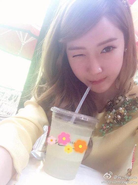 SNSD Jessica lemonade Weibo selca