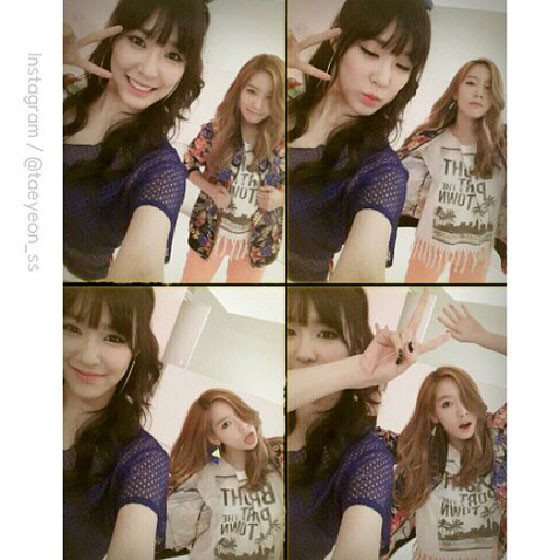 SNSD Taeyeon Tiffany 25th birthday selca