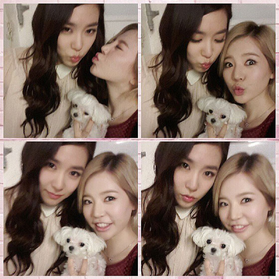 SNSD Sunny Tiffany 25th birthday selca