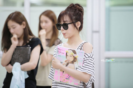 SNSD Tiffany Gimpo Airport from Japan