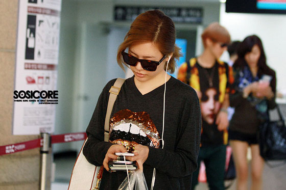 SNSD Sunny Gimpo Airport to Japan