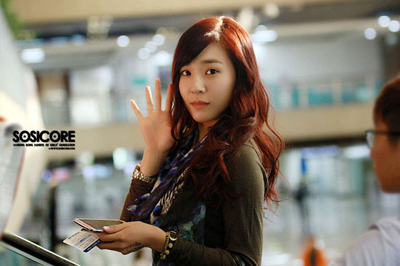 SNSD Tiffany Gimpo Airport to Japan