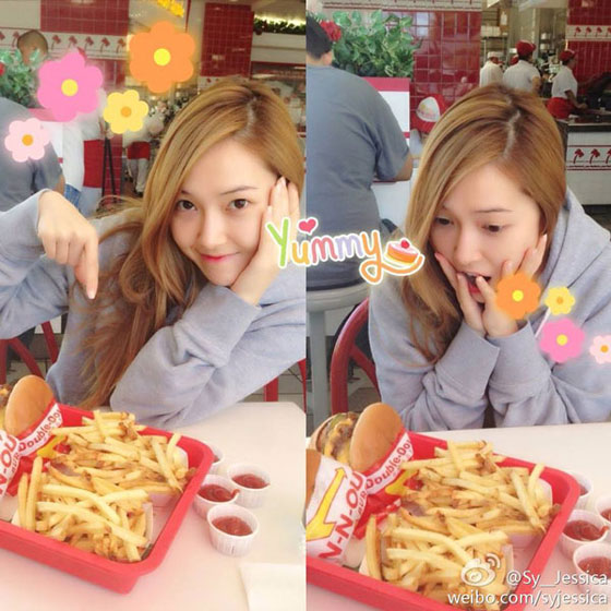 SNSD Jessica In N Out Burgers