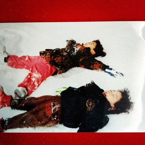 SNSD Taeyeon brother childhood photo