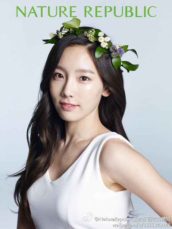 SNSD Taeyeon Natural Republic Weibo