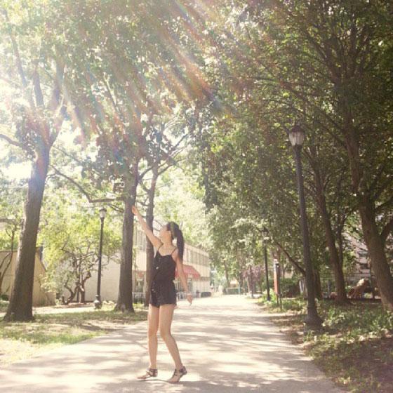 SNSD Yuri sunshine Instagram selca