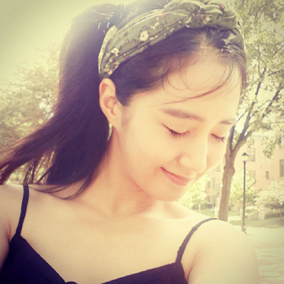 SNSD Yuri lovely weather selca