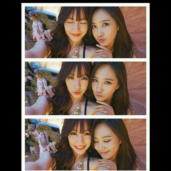 SNSD Yuri Tiffany Instagram selca