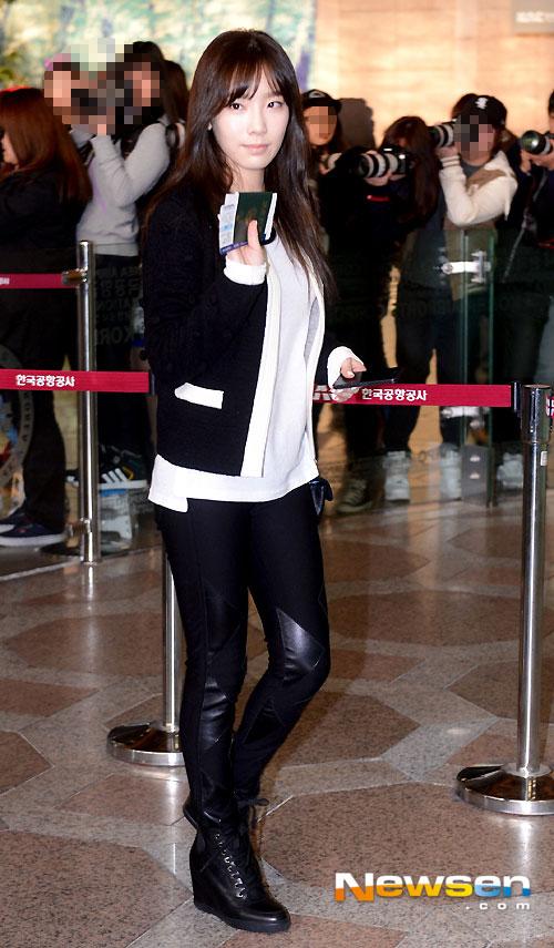 SNSD Taeyeon airport fashion 131026