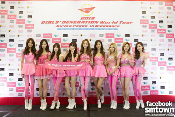 SNSD World Tour 2013 Singapore official FB pics