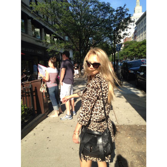 SNSD Hyoyeon Boston Instagram selca