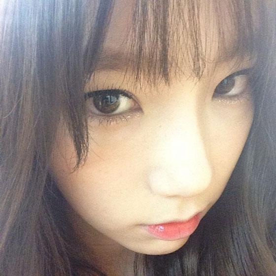 SNSD Taeyeon Instagram hairstyle