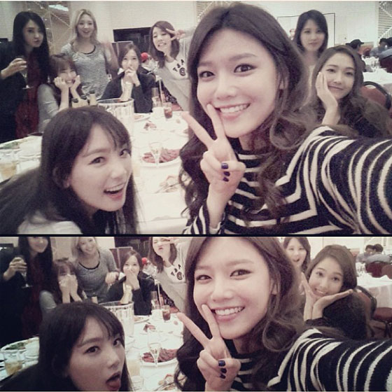 Girls Generation Instagram group selca