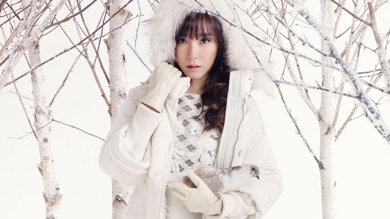 SNSD Tiffany QUA winter fashion wallpaper