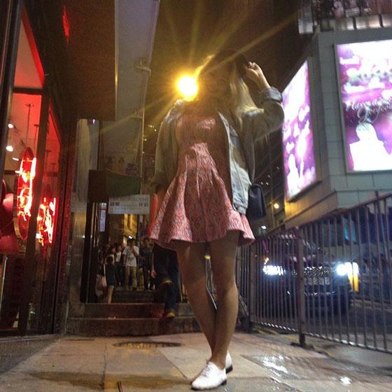 SNSD Hyoyeon Hong Kong selca