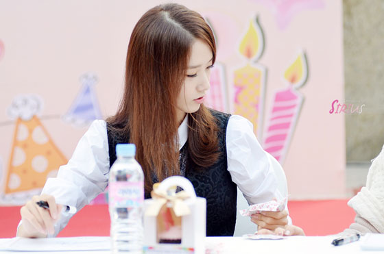 SNSD Yoona Lotte Department Store fansign