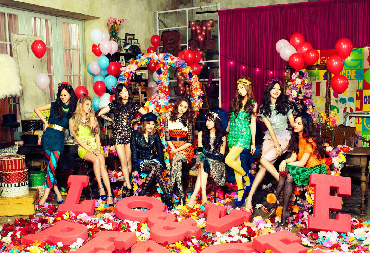 SNSD Love & Peace HD concept photos