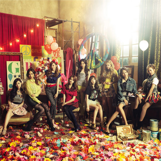 SNSD Love Peace album concept photo
