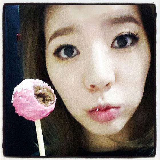 SNSD Sunny candy pop selca