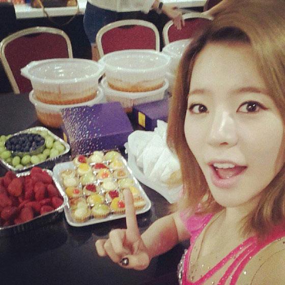 SNSD Sunny Singapore Tour selca