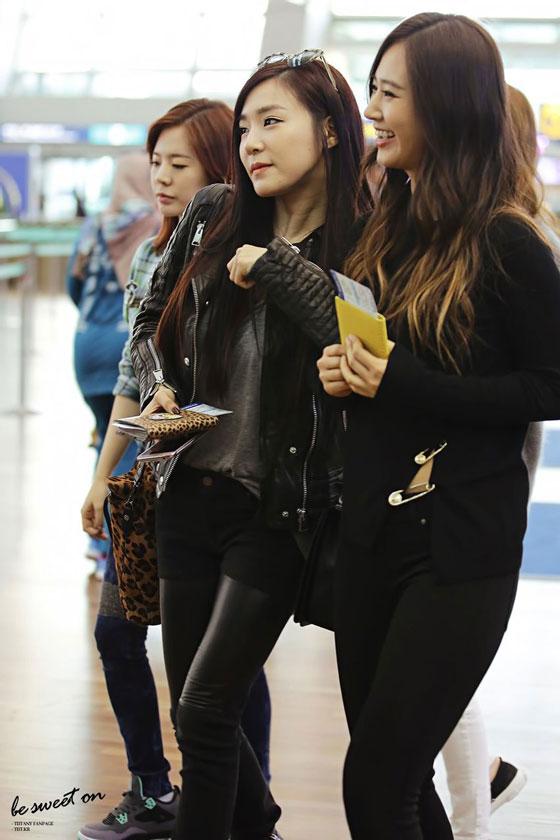 SNSD Tiffany chic airport fashion