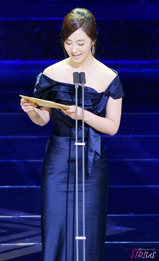SNSD Yuri Blue Dragon Film Awards 2013