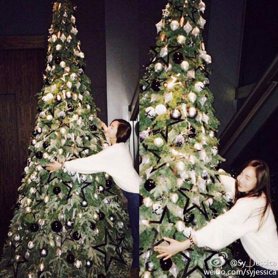 SNSD Jessica Christmas selca 2013