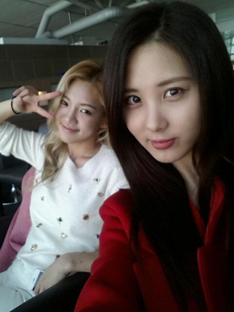 SNSD Seohyun Hyoyeon Twitter selca