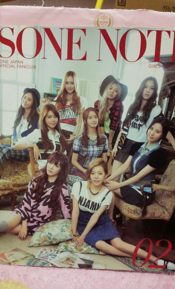 Girls Generation SONE Note Japan v2