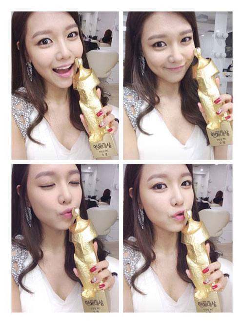 SNSD Sooyoung SBS Entertainment Awards 2013 winner