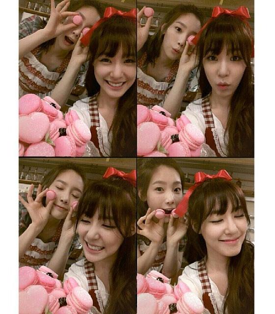 SNSD Taeyeon Tiffany bakery Instagram selca