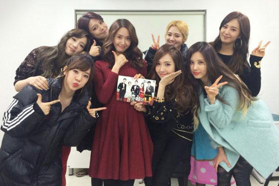 SNSD visit Yoona Prime Minister drama set