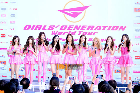 SNSD Girls Peace Bangkok 2014 press event