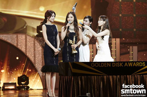 SNSD TaeNy SooYul Golden Disk Awards 2014