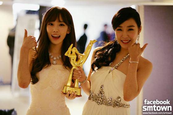 SNSD Taeyeon Tiffany Golden Disk Awards 2014