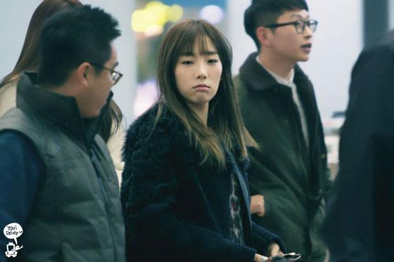 SNSD Taeyeon Incheon Airport to Bangkok fashion