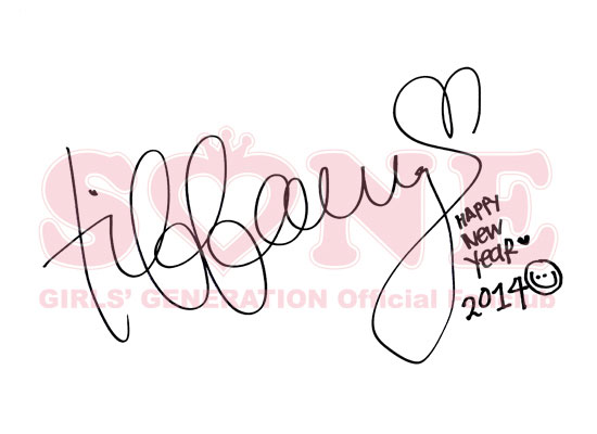 SNSD Tiffany 2014 New Year greeting